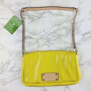 NWT Kate Spade Mirra Mini Yellow Elbow Bag